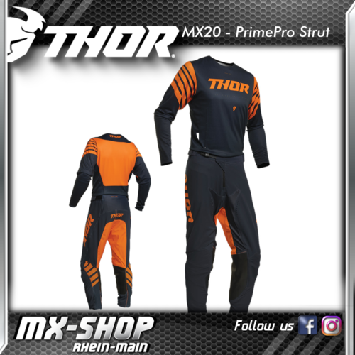 THOR MX-Combo PRIME PRO STRUT MIDNIGHT/ORANGE