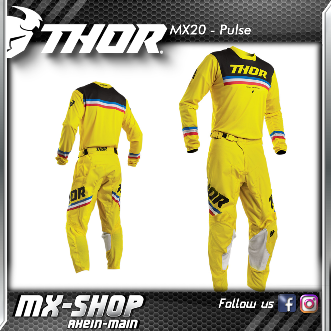 THOR MX-Combo PULSE PINNER YELLOW 2020
