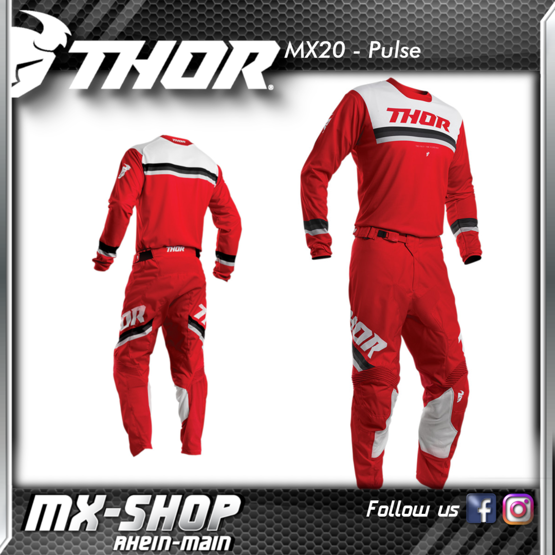 THOR MX-Combo PULSE PINNER RED 2020