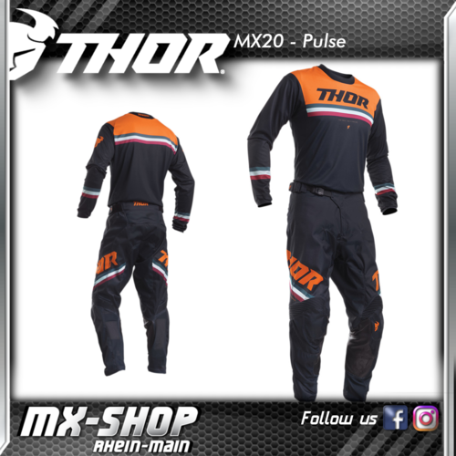 THOR MX-Combo PULSE PINNER MIDNIGHT/ORANGE 2020