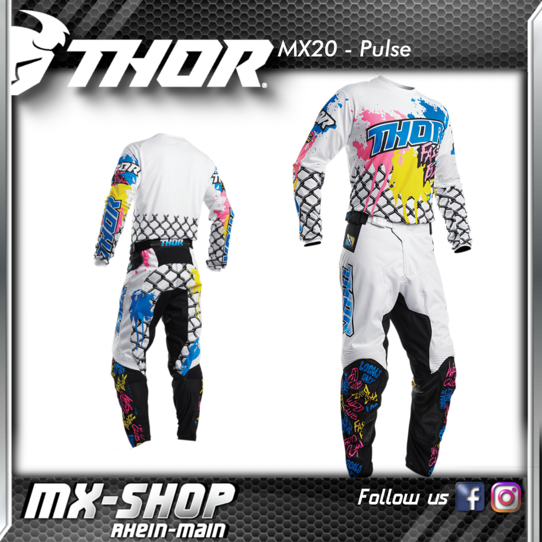 THOR MX-Combo PULSE FAST BOYZ WHITE 2020