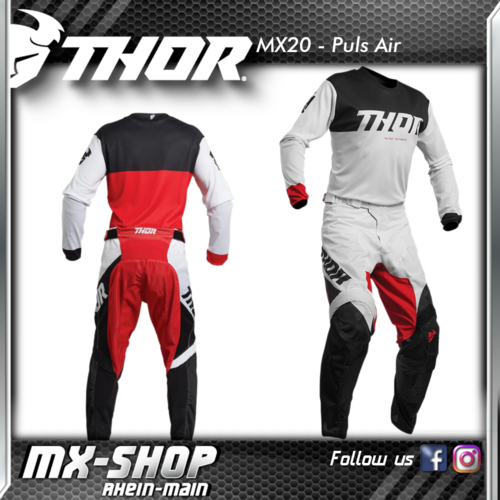 THOR MX-Combo PULSE AIR FACTOR WHITE/RED 2020