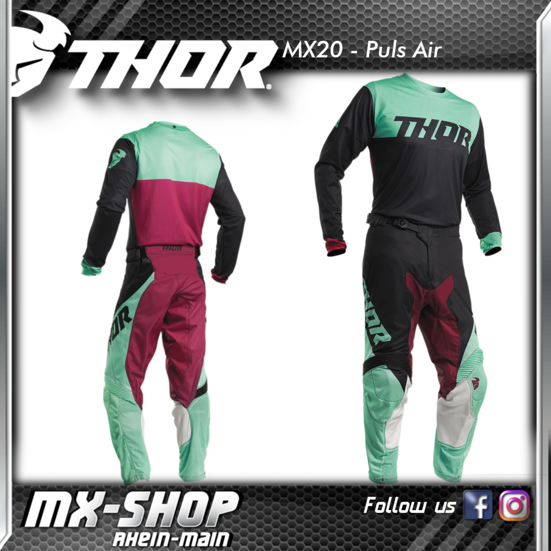 THOR MX-Combo PULSE AIR FACTOR BLACK/MINT 2020