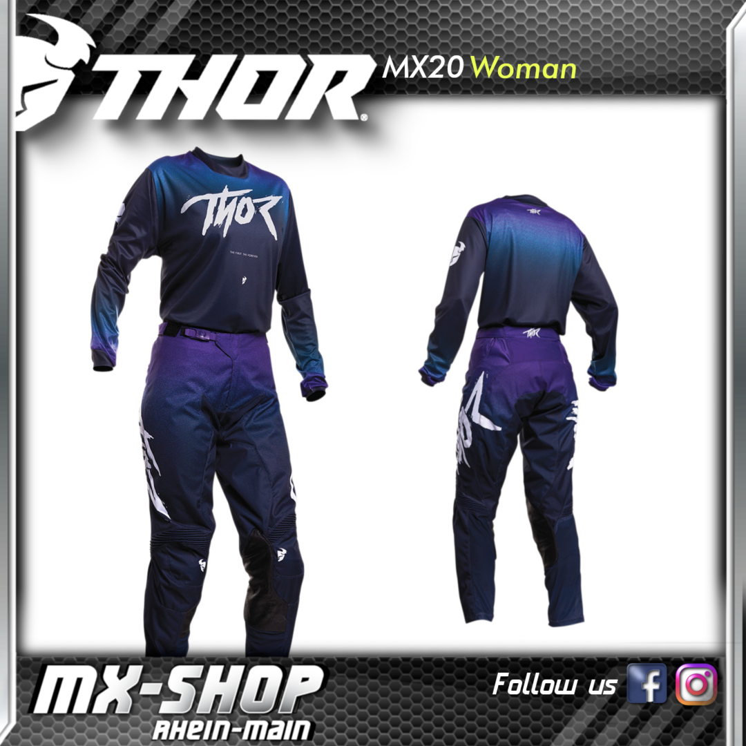 THOR MX-Combo WOMEN'S PULSE FADER MIDNIGHT 2020