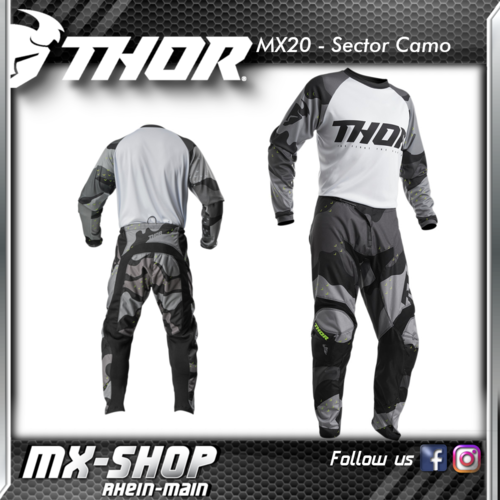 THOR MX-Combo SECTOR CAMO GRAY 2020