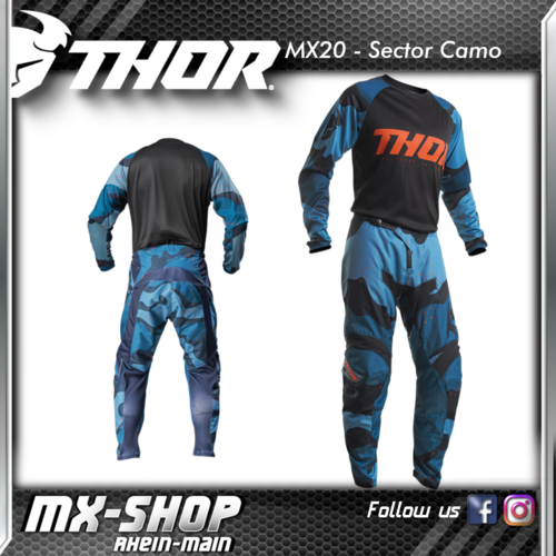 THOR MX-Combo SECTOR CAMO BLUE 2020