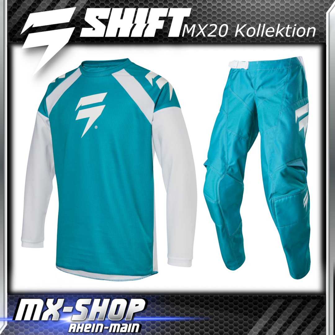 SHIFT MX Kinder-Combo WHIT3 RACE 2020 Grün
