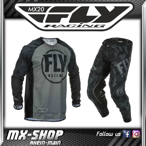 FLY RACING MX-Combo Evolution DST schwarz-grau