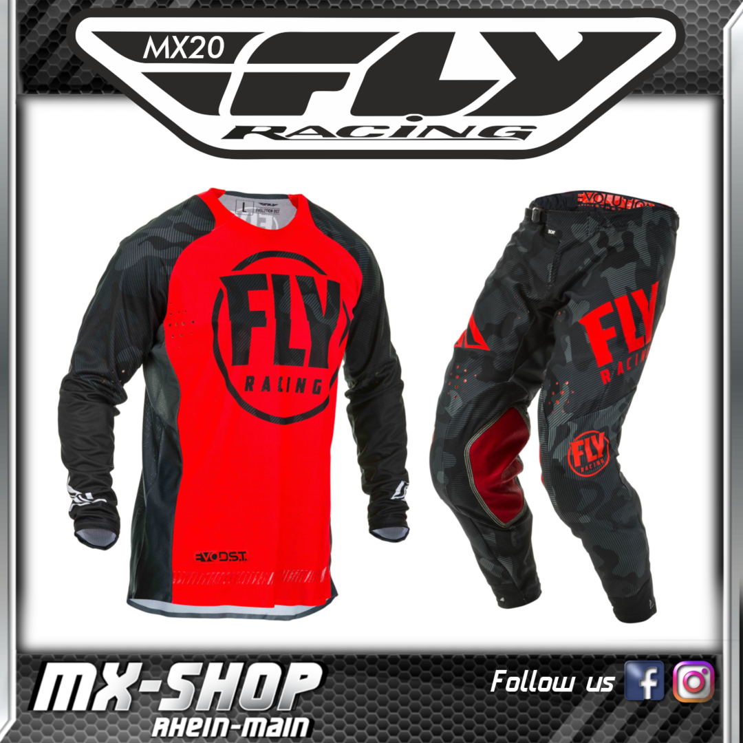 FLY RACING MX-Combo Evolution DST rot-schwarz