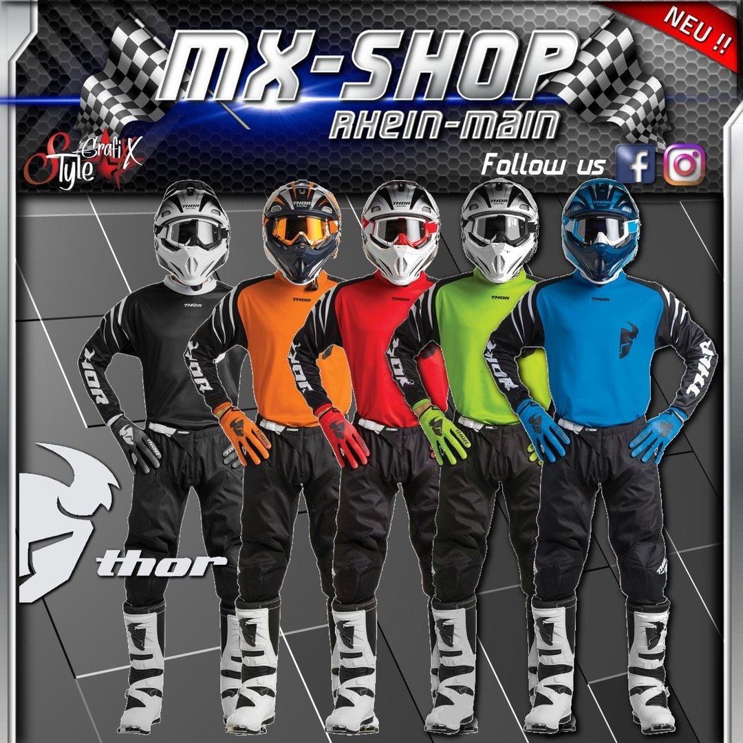 THOR SECTOR ZONES S8 MX JERSEY KIDS