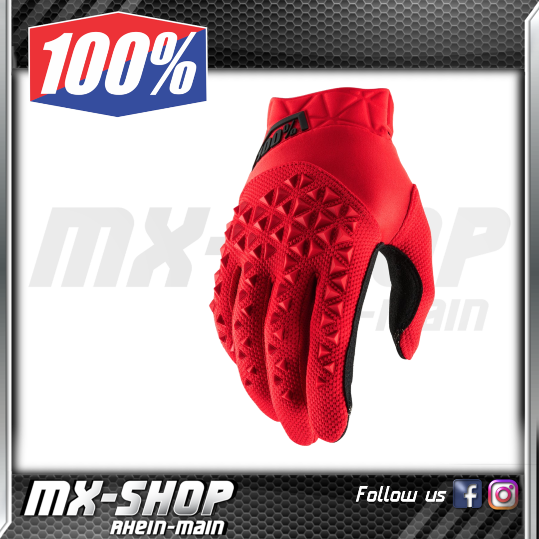 100% Handschuhe AIRMATIC Red/Black