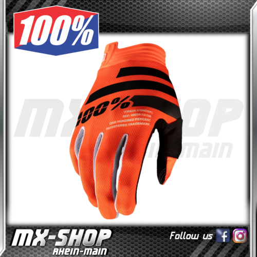 100% Handschuhe Kids iTRACK Orange/Black