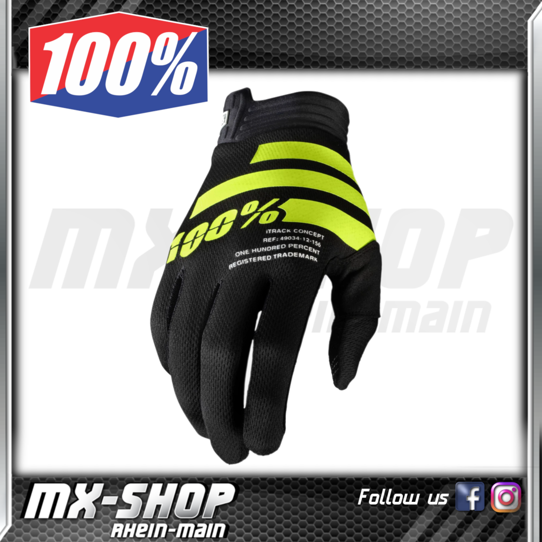 100% Handschuhe iTRACK Black/Fluo Yellow