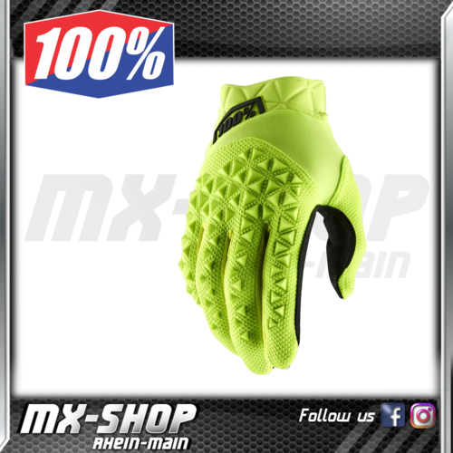 100% Handschuhe Kids AIRMATIC Fluo Yellow/Black