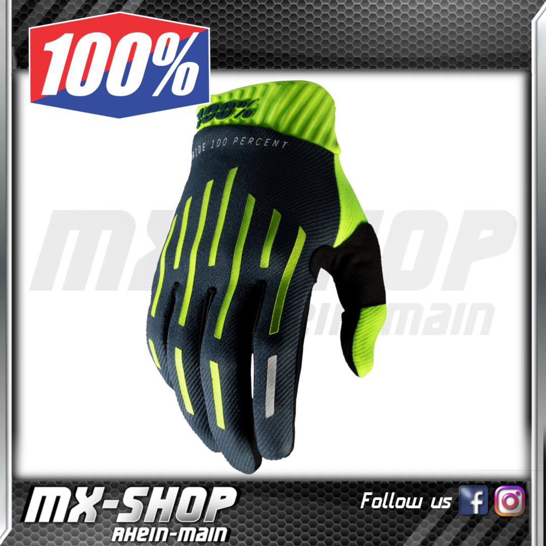 100% Handschuhe RIDEFIT Yellow/Charcoal