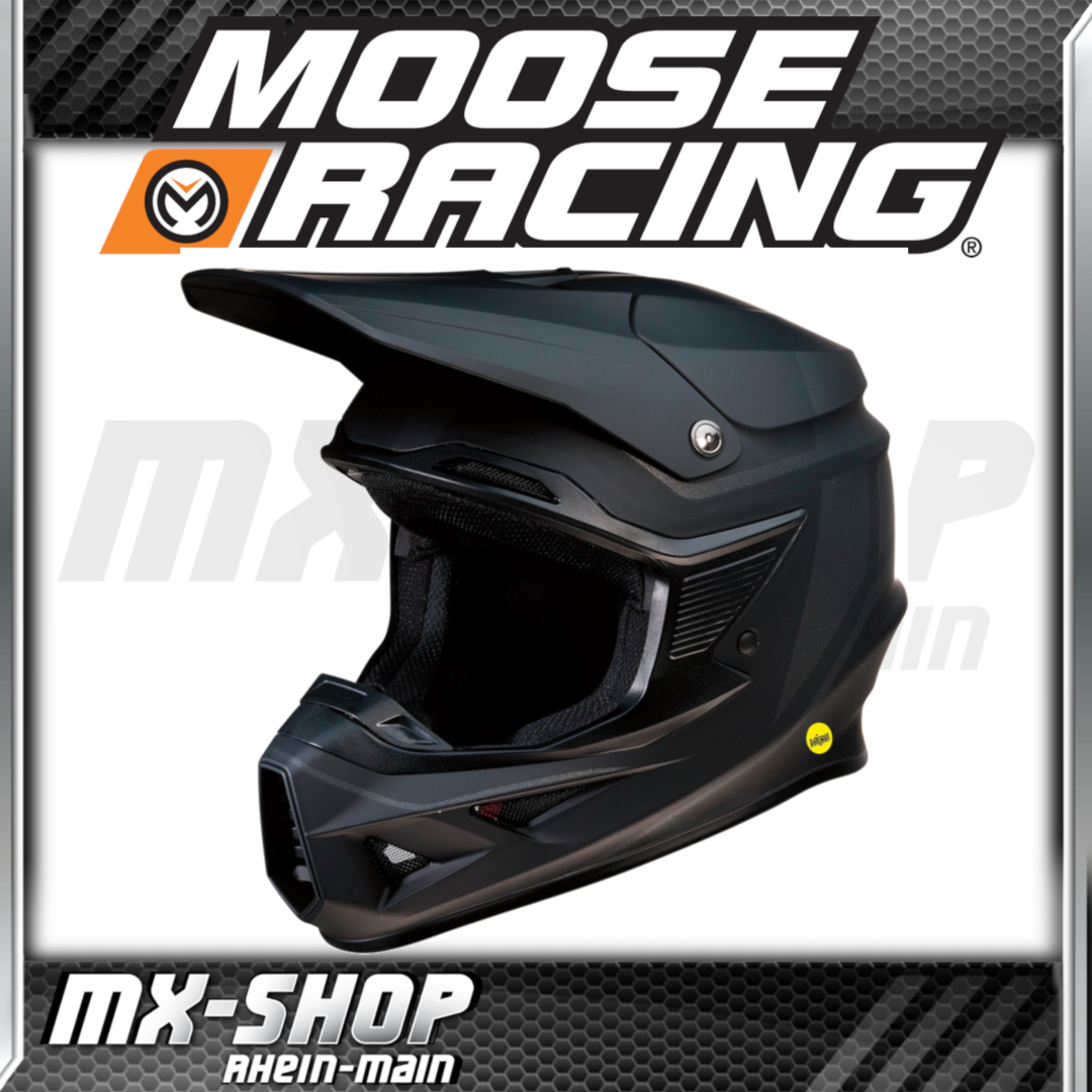 Moose-Racing Helm F.I.SESSION MIPS® schwarz-matt