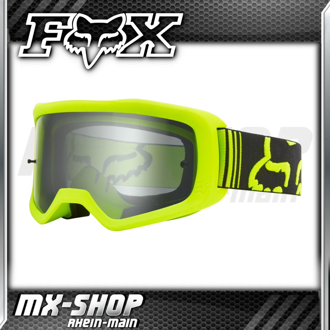 FOX Crossbrille Main II Race Neon-Gelb