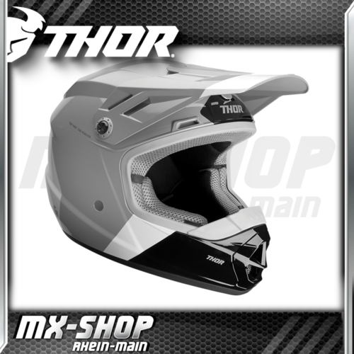 THOR Kinder-Helm SECTOR BOMBER CHARCOAL/WHITE MIPS