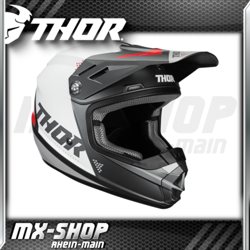 THOR Kinder-Helm SECTOR BLADE CHARCOAL/WHITE