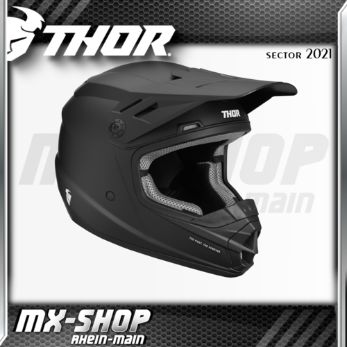 THOR Kinder-Helm SECTOR BLACK MATTE