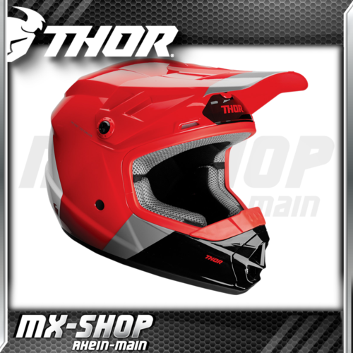 THOR Kinder-Helm SECTOR BOMBER RED/CHARCOAL MIPS