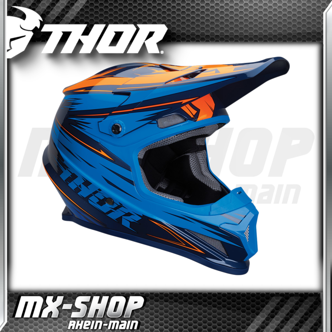 THOR MX-Helm SECTOR WARP NAVY/ELECTRIC BLUE