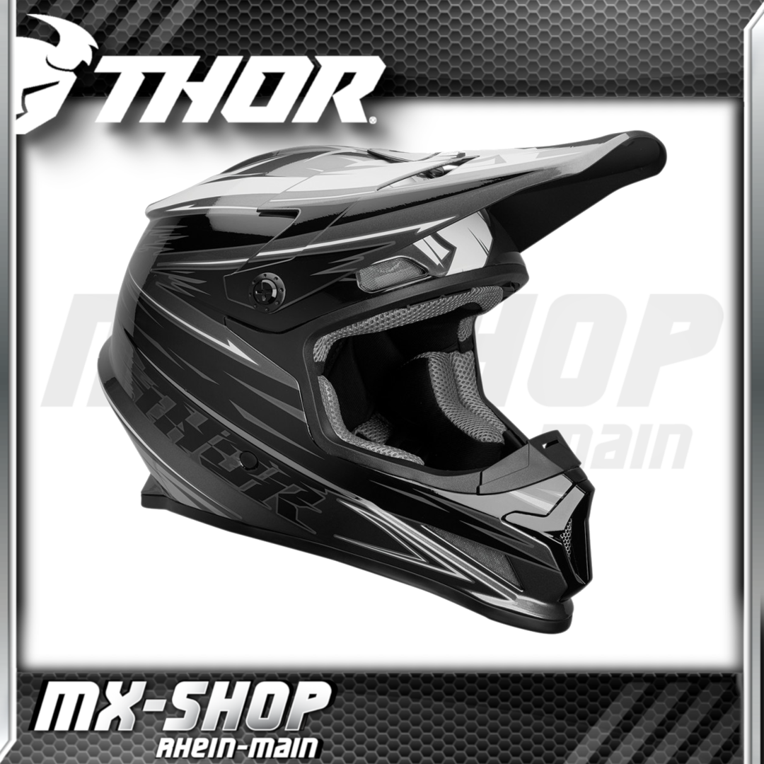 THOR MX-Helm SECTOR WARP CHARCOAL/BLACK