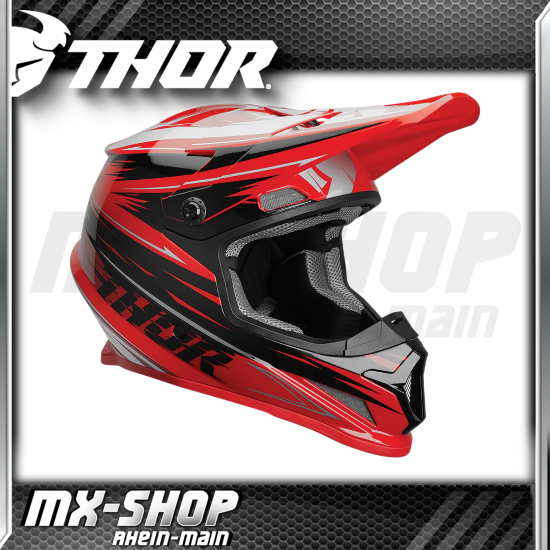 THOR MX-Helm SECTOR WARP RED/BLACK