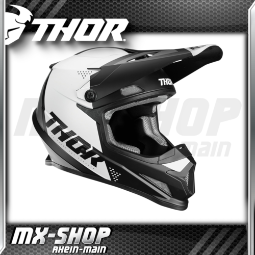 THOR MX-Helm SECTOR BLADE BLACK/WHITE