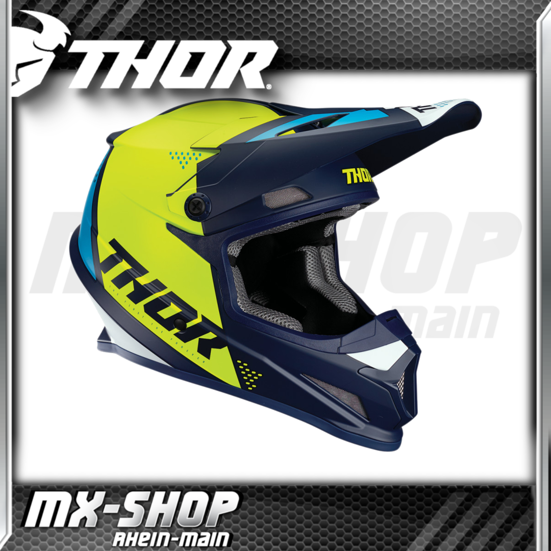 THOR MX-Helm SECTOR BLADE NAVY/ACID