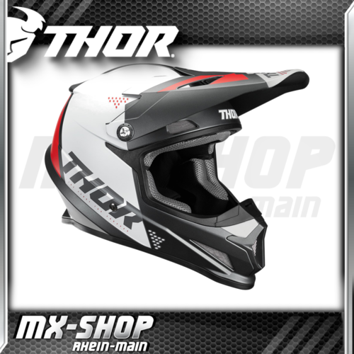 THOR MX-Helm SECTOR BLADE CHARCOAL/WHITE