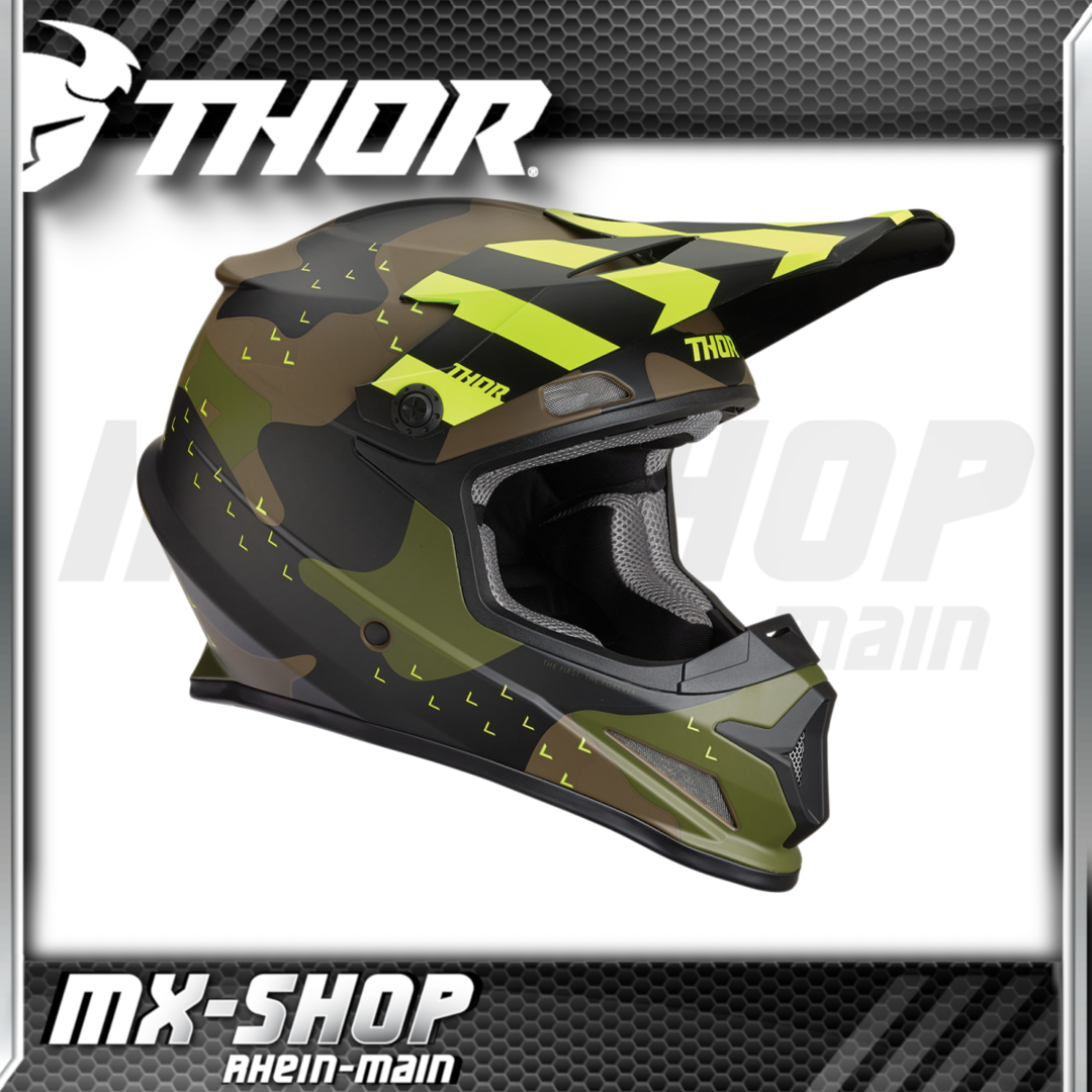 THOR MX-Helm SECTOR MOSSER GREEN CAMO
