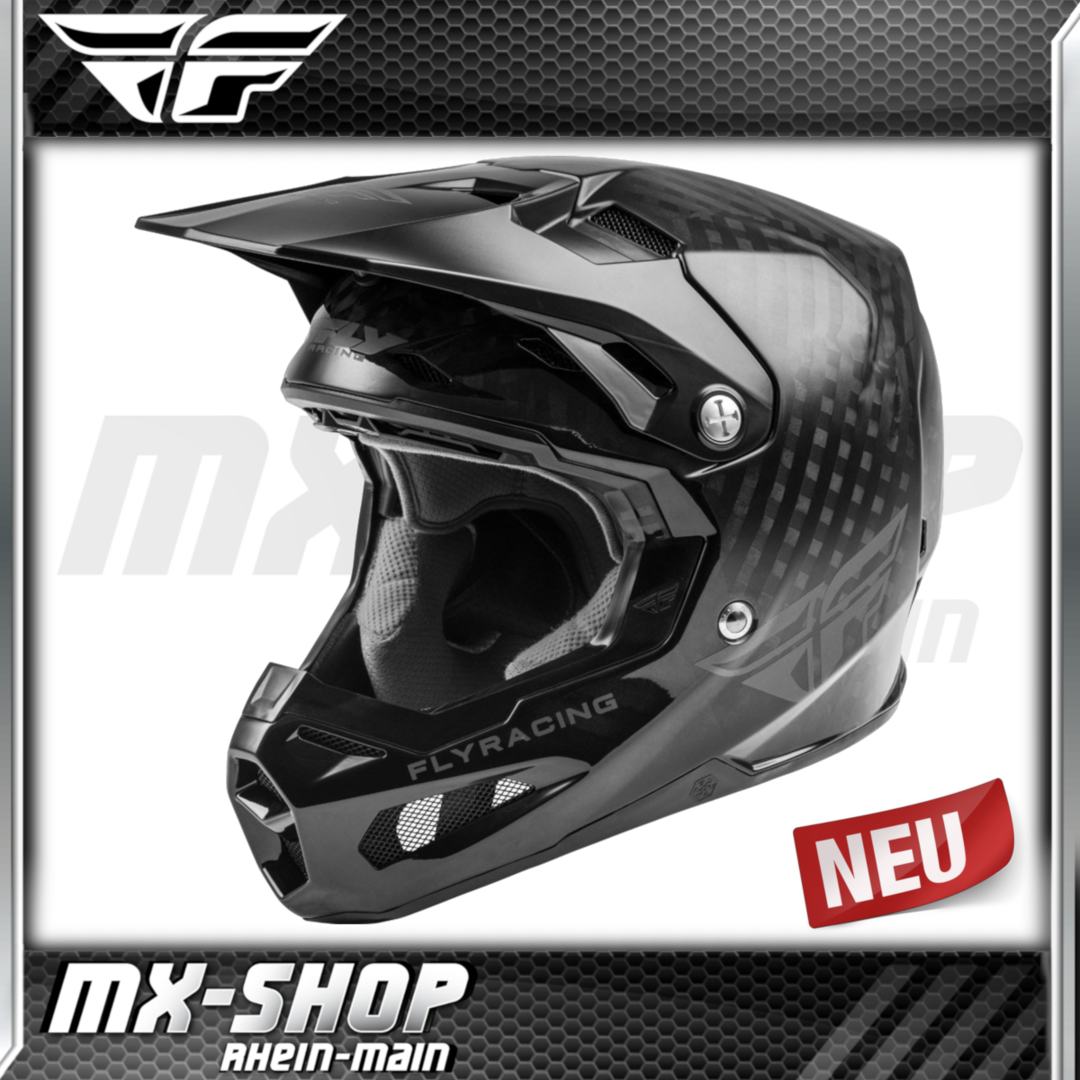 Fly Racing MX-Helm Formula Carbon schwarz