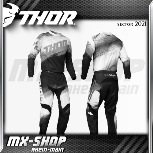 THOR MX-Combo SECTOR VAPOR BLACK/WHITE 2021