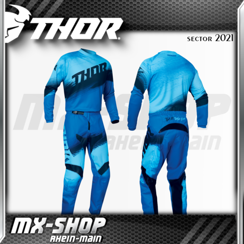 THOR MX-Combo SECTOR VAPOR BLUE/MIDNIGHT 2021