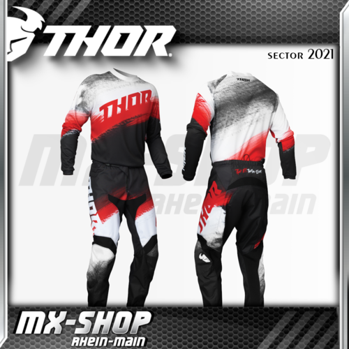 THOR MX-Combo SECTOR VAPOR RED/BLACK 2021