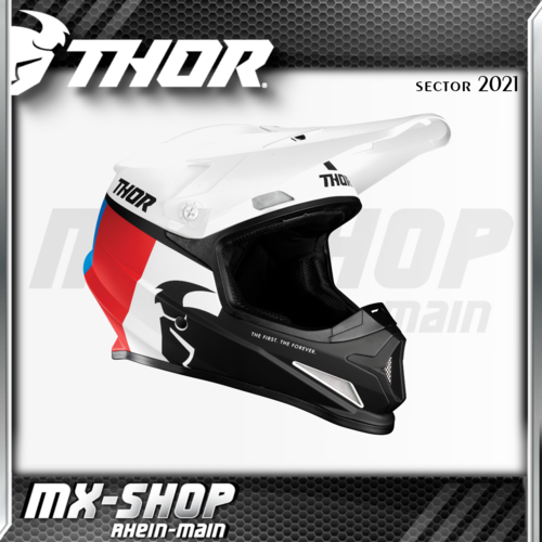 THOR MX-Helm SECTOR RACR WHITE/RED/BLUE 2021
