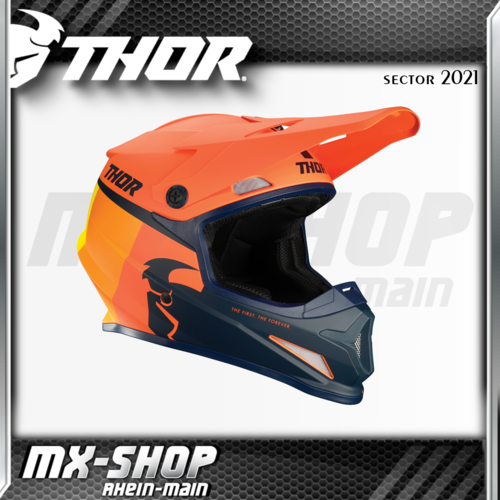 THOR MX-Helm SECTOR RACR ORANGE/MIDNIGHT 2021