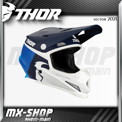 THOR MX-Helm SECTOR RACR NAVY/BLUE 2021