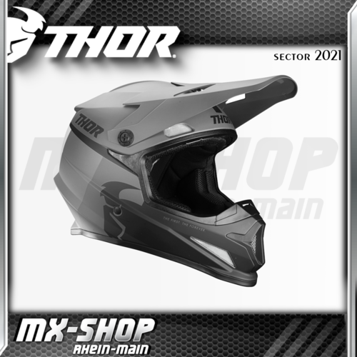 THOR MX-Helm SECTOR RACR BLACK/CHARCOAL 2021
