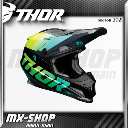 THOR MX-Helm SECTOR FADER ACID/TEAL 2021