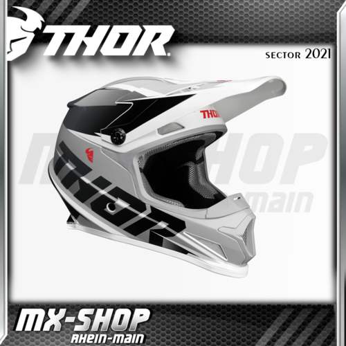 THOR MX-Helm SECTOR FADER BLACK/WHITE 2021