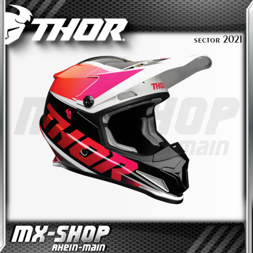 THOR MX-Helm SECTOR FADER ORANGE/MAGENTA 2021