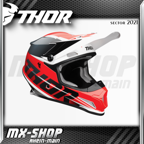 THOR MX-Helm SECTOR FADER RED/BLACK 2021
