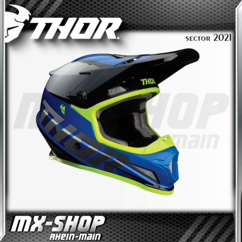 THOR MX-Helm SECTOR FADER BLUE/BLACK 2021