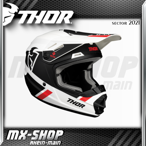 THOR Kinder-Helm SECTOR SPLIT WHITE/BLACK MIPS