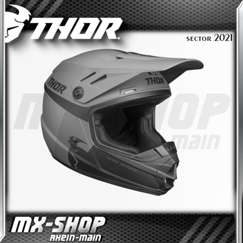 THOR Kinder-Helm SECTOR RACER BLACK/CHARCOAL