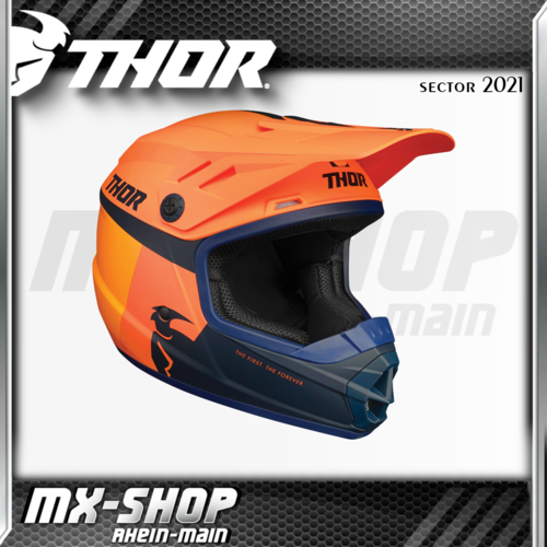 THOR Kinder-Helm SECTOR RACER ORANGE/MIDNIGHT