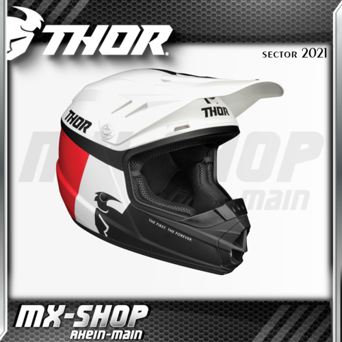 THOR Kinder-Helm SECTOR RACER WHITE/RED/BLUE