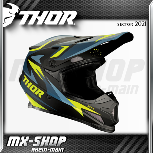THOR MX-Helm SECTOR WARSHIP BLUE/ACID 2021